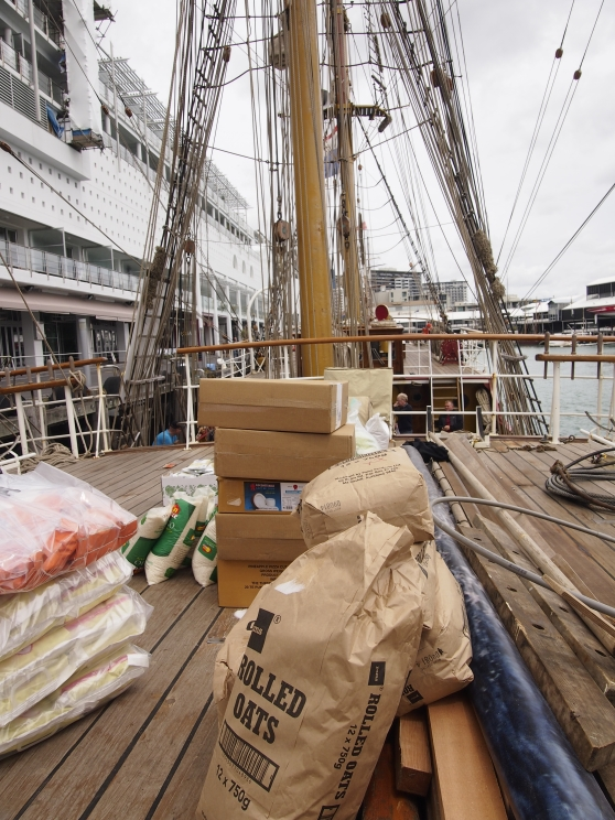 Provisions aboard Europa, Auckland