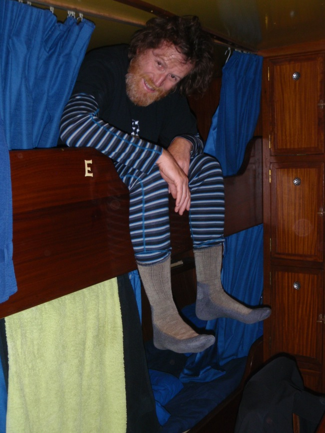 Contortionist manouevres getting in and out of my top bunk