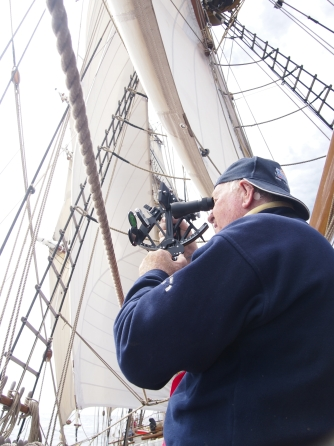 Ex-French Navy officer taking important celestial measurements