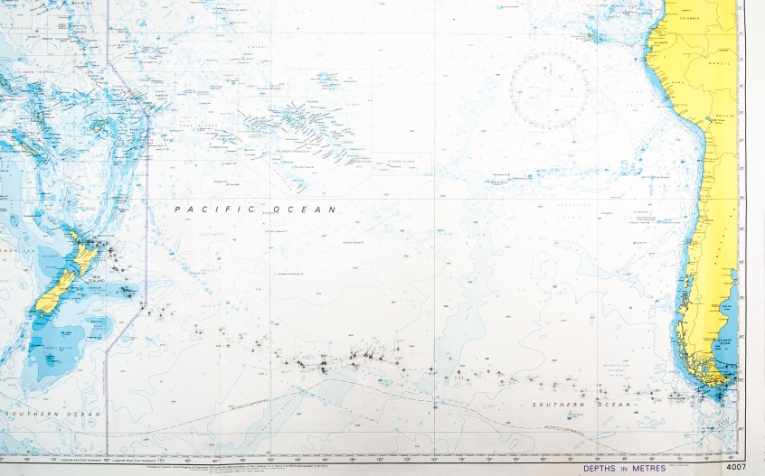 The chart of our daily plotted positions of the three Dutch Tall Ships, October-December 2013