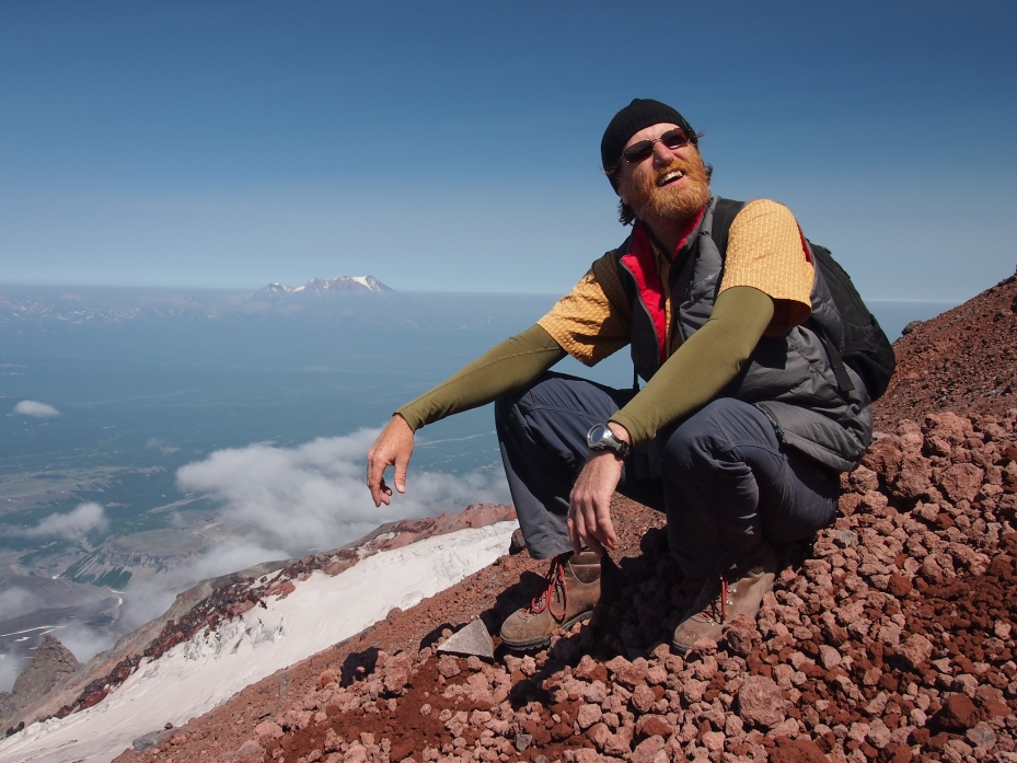Southern Kamchatka's Avachinsky Volcano (2741masl), descending from active summit, exhausted!